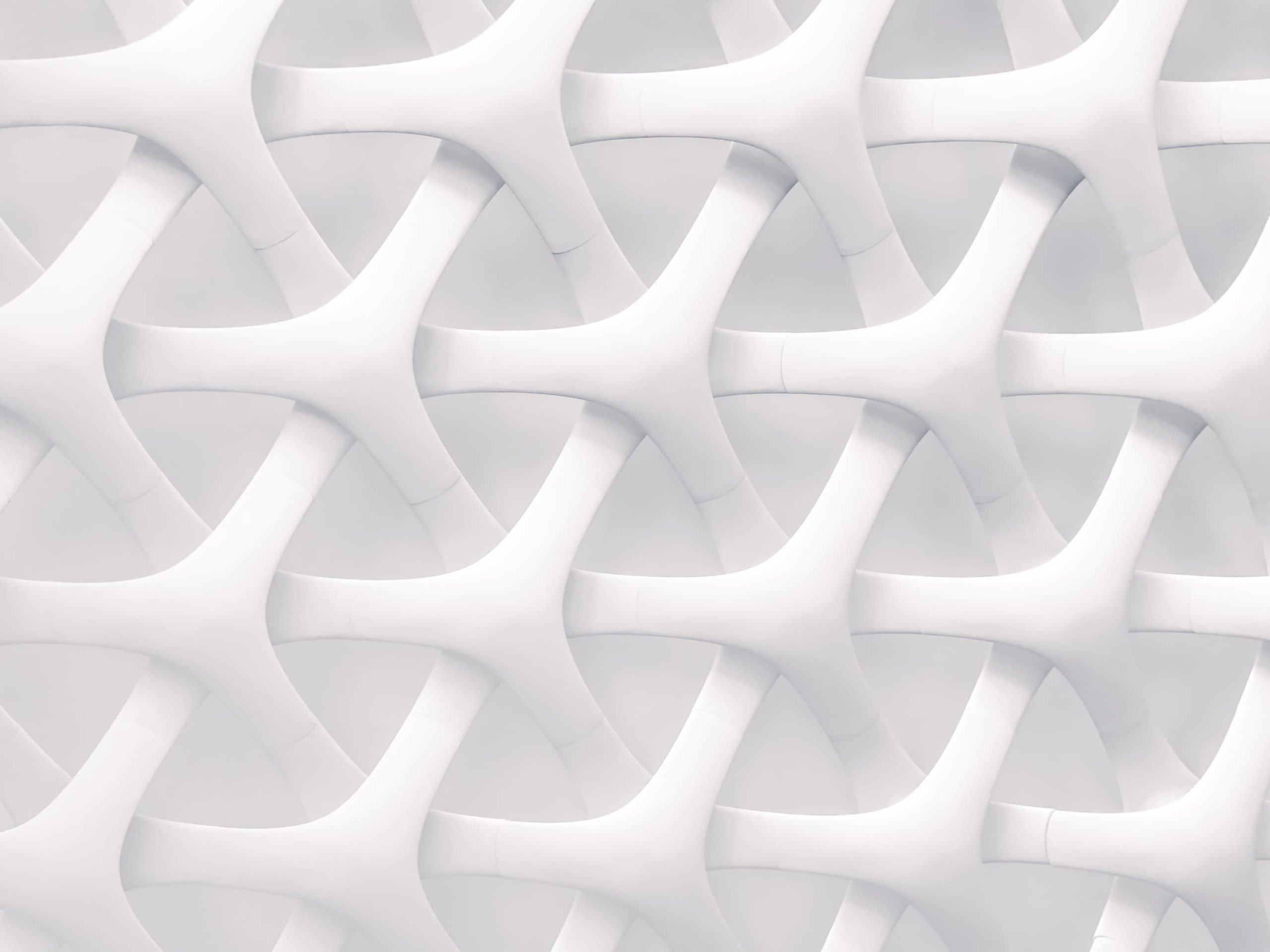 Abstract white interwoven strands